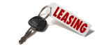 Car Key with Leasing Tag on White